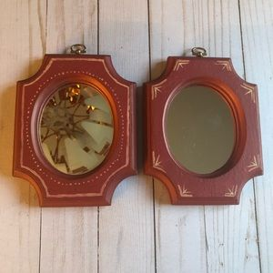 Vintage hand painted mirrors
